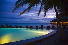 Maldives-Nacht lizenzfreie stockfotos