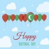 Maldives National Day Flat Patriotic Poster. Stock Photo