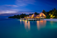 Maldives at night Stock Image