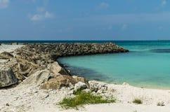 Maldives - November, 2017: Blue Lagoon, Indian Ocean. Holidays destination. Maldives - November, 2017: Amazing beach on Maldives with white sand, turquoise water Stock Images