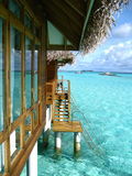 Maldives overwater stock photo