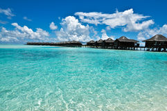 Maldives Overwater Bungalow Stock Image