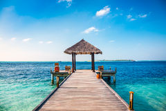 Maldives, a place on the beach for weddings. Royalty Free Stock Photography