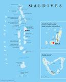 Maldives Political Map Stock Images