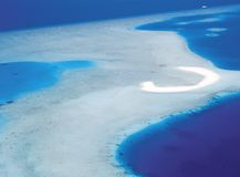 maldives powietrzny widok Zdjęcia Stock