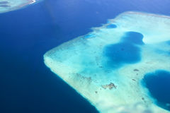 Maldives reef from the sky. Shoot taken of the maldives reef from the sky Stock Photos
