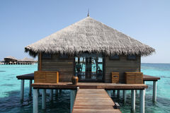 Maldives resort Stock Image