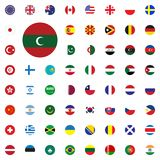 Maldives round flag icon. Round World Flags Vector illustration Icons Set. Maldives round flag icon. Round World Flags Vector illustration Icons Set Stock Photos