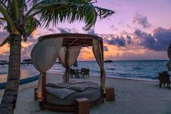 Maldives sceneria fotografia stock