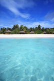 Maldives from the sea. Island from the sea, Maldives Royalty Free Stock Photography