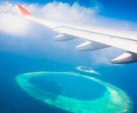 Maldives, sea plane stock photo