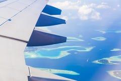 Maldives, sea plane, Close up royalty free stock image