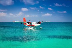 Maldives, sea plane Stock Images