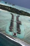 Maldives from seaplane 2 Royalty Free Stock Photos