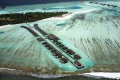 Maldives from seaplane Stock Image