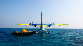 The maldives seaplanes Stock Photography