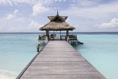Maldives seascape. This photo was taken on banyan tree island of maldives Royalty Free Stock Photo