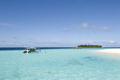 Maldives seascape. On vabbin faru island Stock Image