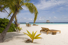 Maldives seascape. On vabbin faru island, banyan tree resorts Stock Images