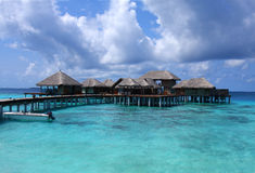 maldives semesterort Fotografering för Bildbyråer