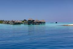 maldives Station de vacances de villas de l'eau Photographie stock