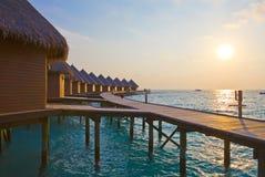 maldives stosy su synchronizować willi wodę Obraz Royalty Free