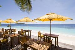 Maldives-Strandurlaubsorte Stockfotos