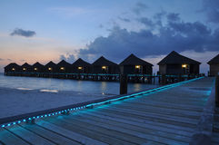 The maldives at sunset Royalty Free Stock Photography
