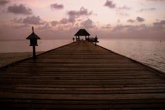 Maldives at sunset Royalty Free Stock Image