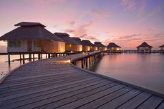 Maldives. Sunset in Ellaidhoo, North Ari Atoll Stock Photos