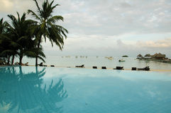 Maldives Swimming Pool Stock Images
