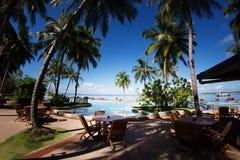 Maldives swimming pool Royalty Free Stock Photography