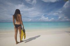 Maldives tropical beach royalty free stock photo