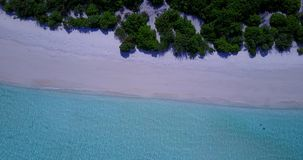 V08859 maldives tropical island and blue sea with drone aerial flying view on a beach with white sand and beautiful sky. Maldives tropical island and blue sea stock video