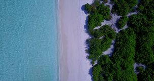 V08862 maldives tropical island and blue sea with drone aerial flying view on a beach with white sand and beautiful sky. Maldives tropical island and blue sea stock video