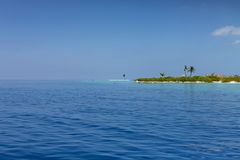 Maldives. Tropical island, ocean and clear blue sky Stock Image