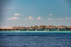Maldives tropical paradise beach landscape Royalty Free Stock Photos