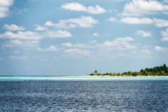 Maldives tropical paradise landscape sandy beach Stock Photography