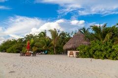 Maldives, tropical paradise, small bar on the beach Stock Photography