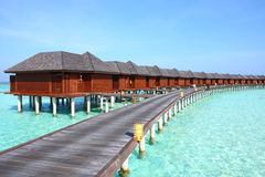 Maldives vater villa Royalty Free Stock Images