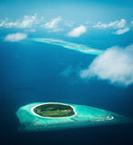 Maldives, view from the seaplane Stock Image