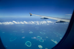 Maldives. View from the window Royalty Free Stock Images