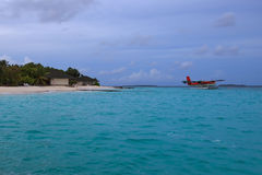 Maldives. Views of the beach. Royalty Free Stock Photos