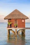 maldives villa Arkivbild