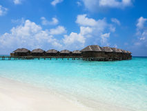 Maldives, Villa on piles on water Stock Images