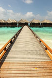 Maldives. Villa on piles on water Stock Photography