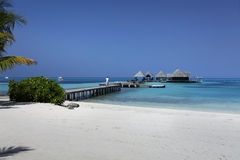Maldives villa Royalty Free Stock Photo