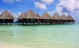 Maldives Village Royalty Free Stock Photo