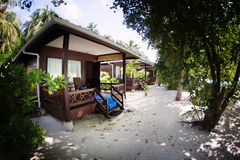 Maldives villas Stock Images