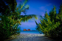 Maldives villas in the water Stock Photography